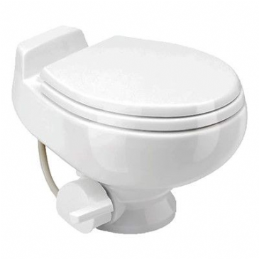 DOMETIC TRAVELER TOILET 511 WHITE GRAVITY-FLUSH TOILET